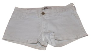 Hollister Summer Denim Cute Trendy Cuffed Shorts white
