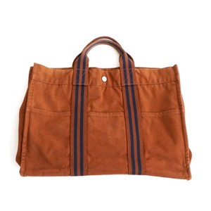 Hermès Tote in Brown & Navy