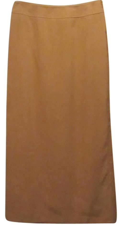 386dae29cd Talbots Camel Faux Suede Skirt Size 8 (M, 29, 30) - Tradesy