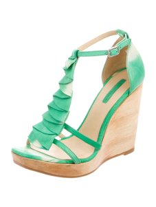 Longchamp Green Wedges