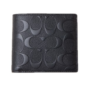 Coach NEW COACH men's Embossed logo leather wallet coins purse pocket