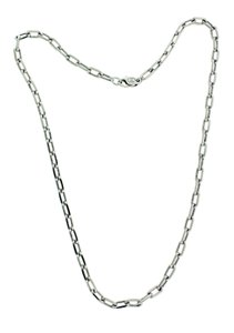 Cartier Cartier 18k white gold Spartacus oval link necklace used in good condi