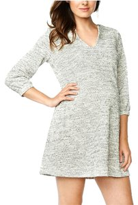 Maternal America Black & Cream Terry Maternity Shift Dress