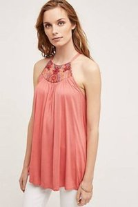 Anthropologie Top Rose