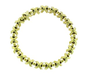 Tiffany & Co. Tiffany & Co Signature X Bracelet in 18k Yellow Gold 7.25 inches long