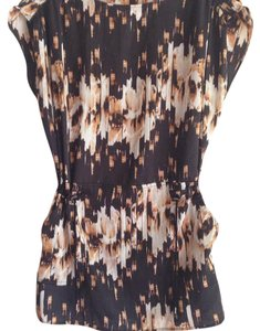 Derek Lam short dress Brown/ cream on Tradesy