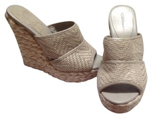 BCBGeneration Neutral light taupe in color. Wedges