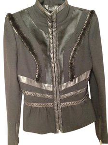 Versace Mink Fur Braided Leather Motorcycle Jacket
