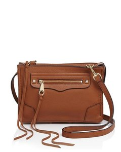 Rebecca Minkoff Leather Gold Hardware Cross Body Bag