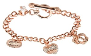 Juicy Couture NWT Juicy Couture ROSE Goldtone Rhinestone Charm Toggle Bracelet