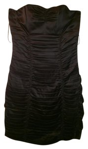 Express Strapless Ruched Satin Dress