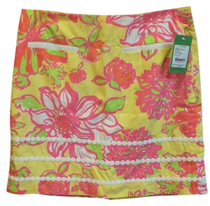 Lilly Pulitzer Mini Skirt Yellow