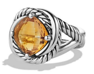 David Yurman DAVID YURMAN INFINITY GOLD CITRINE 925 ST SILVER RING