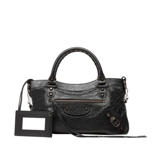 Balenciaga Lambskin Leather Shoulder Bag