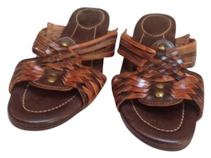 Frye Brown w/multi colors Sandals