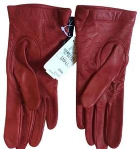 Neiman Marcus Neiman Marcus Red Leather Cashmere lined gloves size small