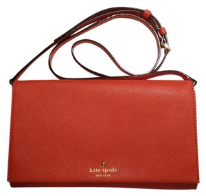 Kate Spade Red Leather Cross Body Bag