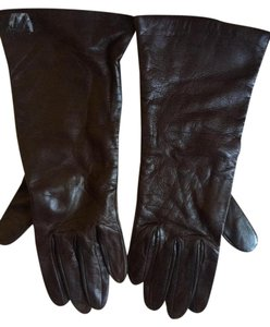 Neiman Marcus Neiman Marcus Dark Coffee brown Leather Cashmere lined gloves 6.5