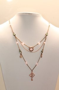 Betsey Johnson NEW $48 Betsey Johnson Necklace rose tone