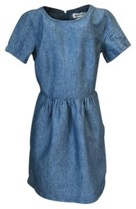 Madewell short dress chambray blue on Tradesy