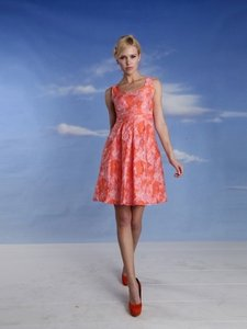 Eva Franco Vintage Inspired Textured Fabric Sleeveless Fit Flare Floral Dress