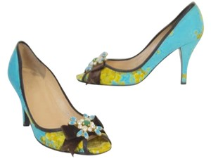 J.Crew BLUE Multicolor Pumps
