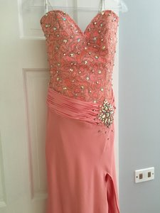 Tony Bowls Pageant Prom Strapless Rhinestone Dress
