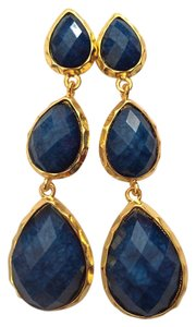 Anthropologie New Amrita Singh Blue Lapis Earrings