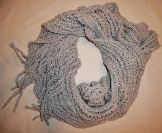 Other Light Gray Loose Knit Stretchy Slouchy Fluffy Scarf