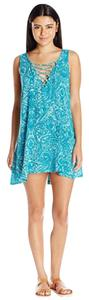 Lucy Love short dress Teal and white on Tradesy