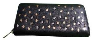 Fossil Fossil Woman's Black Leather Wallet w Gold Embellishments nwt