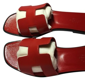 Herms Jasper Red Sandals