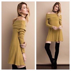 Clmayfae short dress Mustard on Tradesy