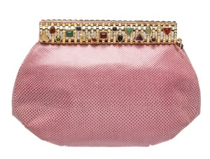 Judith Leiber Pink/Multicolor Clutch