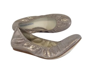 Vera Wang Snake Print Metallic Leather Flats
