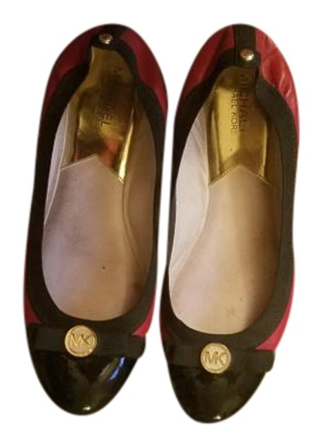 Item - Red/Black Patent Leather Flats Size US 10 Regular (M, B)