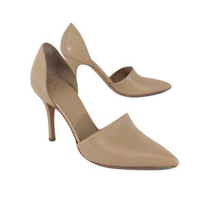 Vince Claire Nude Leather D'orsay Pumps