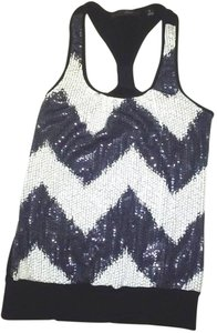 HeartSoul Sequin Free Shipping Cotton Top White/black