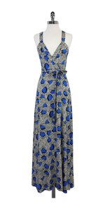 Maxi Dress by Diane von Furstenberg Black Blue Maxi