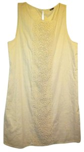 J.Crew short dress BEIGE Little Free Shipping Beaded Turkish Cotton on Tradesy