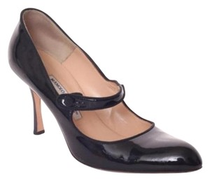 Manolo Blahnik Black Patent Leather Pumps