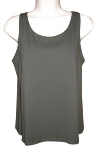 Eileen Fisher Silky Cami Top Army Green