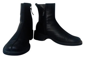 DKNY Leather Ankle Boot Black Boots
