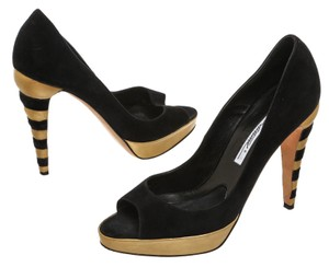 Brian Atwood Black/Gold Pumps