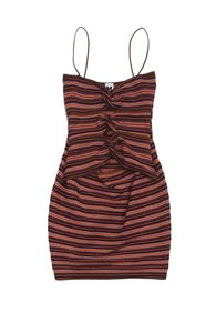 Missoni short dress Bronze Multi Color Metallic Striped on Tradesy