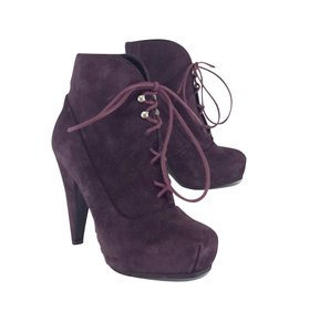 Proenza Schouler Purple Suede Lace Up Boots
