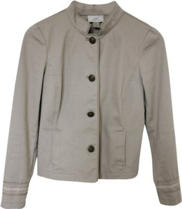 Ann Taylor LOFT Canvas Trench Spring Light Beige Jacket
