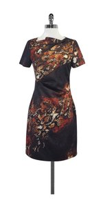 Karen Millen short dress Brown Multi Color Print on Tradesy