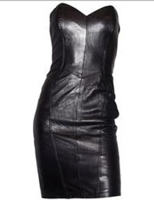 North Beach Leather Michael Hoban Strapless Cocktail With Matching Bolero Jacket Dress