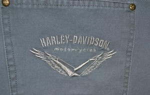 Harley Davidson Jeans Straight Pants Gray